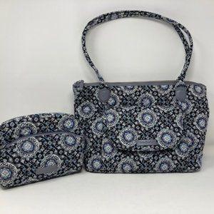 Vera Bradley Carson East West Tote & Cosmetic Bag